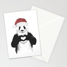 Santa panda Stationery Cards