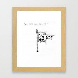 Let Your Pizza Flag Fly Framed Art Print
