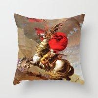 napoleon Throw Pillows featuring Napoleon by Marko Köppe