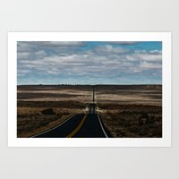Somewhere between here and there Art Print