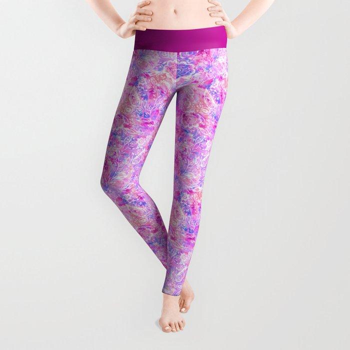 Feminine Folk Floral Leggings