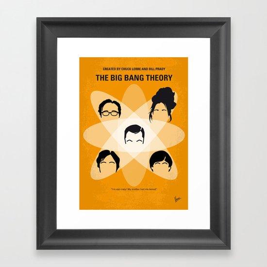 No196 My The Big Bang Theory minimal poster Framed Art Print