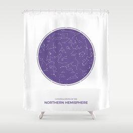 Constellation of the Northern Hemisphere Shower Curtain