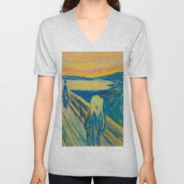 "Edvard Munch ""The Scream"" (1893)(pastel) Unisex V-Neck"