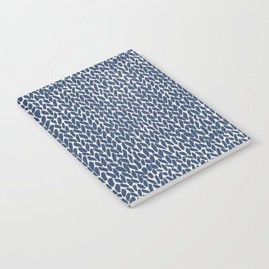 Hand Knit Navy Notebook