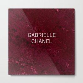 coco gabrielle burgundy velvet edition Metal Print