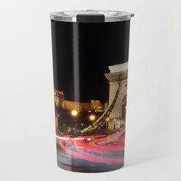 Traffic on Szechenyi Chain bridge Travel Mug