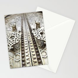 Marocco Door Mosaic Style Design Metal Stationery Cards