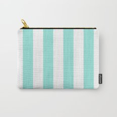Stripe Tiffany Blue Bold Vertical Carry-All Pouch