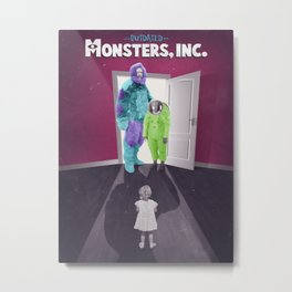 Outdated Monsters Inc. Metal Print
