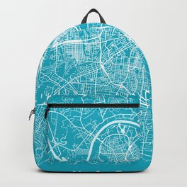 Nashville Map Tennessee | Blue & Cyan II | More Colors, Review My Collections Backpack