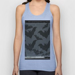 ANTIQUE  SHABBY CHIC  BATS ART DESIGN Unisex Tank Top