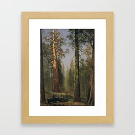 Albert Bierstadt - The Grizzly Giant Sequoia Framed Art Print