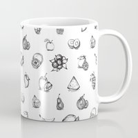 fruits Mugs featuring Fruits by Tyhe Reading