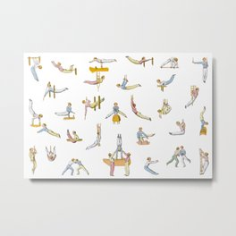 Jaunty Gymnasts Metal Print