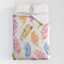 Whimsical Feathers Comforters