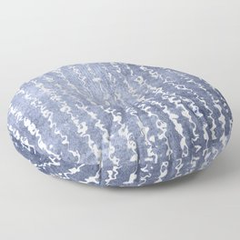 Indigo Flow Floor Pillow