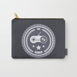 Top Gamer Monochromatic Badge Carry-All Pouch