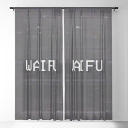 WAIFU Sheer Curtain