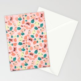 Cute Vintage Candy Girly Pink Illustration Stationery Cards
