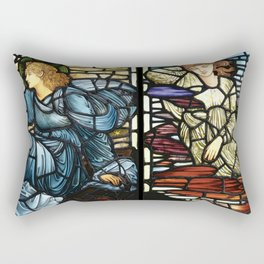 "Edward Burne-Jones ""Stained glass collection"" Rectangular Pillow"