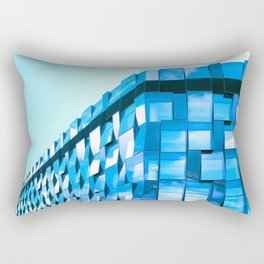 blue glass Rectangular Pillow