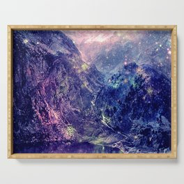 Galaxy Mountains : Deep Pastels Serving Tray