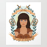 heymonster Art Prints featuring Xena by heymonster