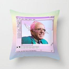 Kawaii Bernie - MS Paint Throw Pillow