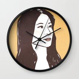 elementary: queen bee Wall Clock