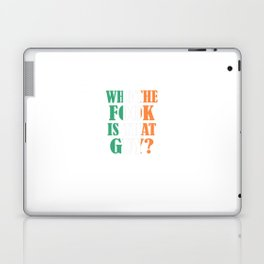 McGregor - Who The Fook Is That Guy Laptop & iPad Skin