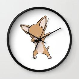 Funny Dabbing Chihuahua Dog Dab Dance Wall Clock