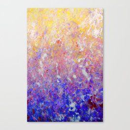 Abstract Art in Sunset Palette Canvas Print