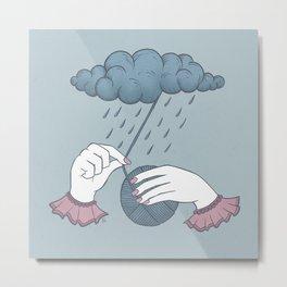 Waiting (for the rain to stop falling) Metal Print