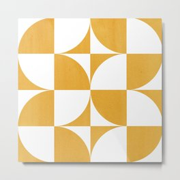 Quadrants (Mustard Yellow) Metal Print