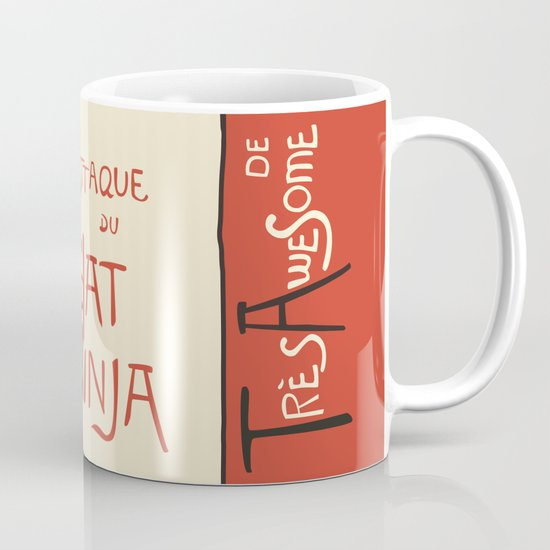 A French Ninja Cat (Le Chat Ninja) Mug