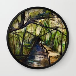 Paradise Remembered Wall Clock