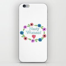 Nasty Woman Floral iPhone & iPod Skin