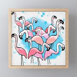 Flamingo City Framed Mini Art Print