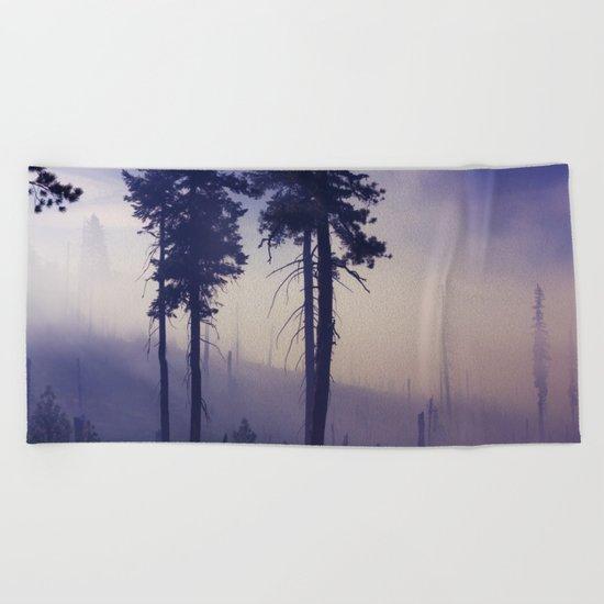 PURPLE FOG #2 Beach Towel