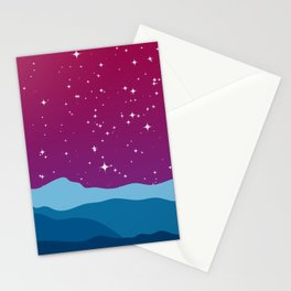 Red Sky Stationery Cards