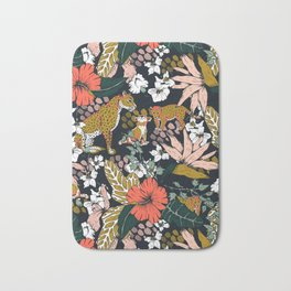Animal print dark jungle Bath Mat