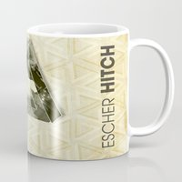 escher Mugs featuring escher hitch by Vin Zzep