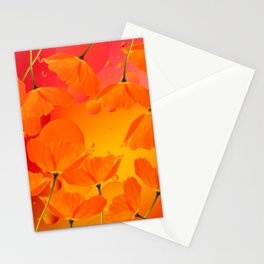 Poppy Flowers in Sunset Colors #decor #society6 #buyart Stationery Cards