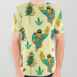 Stoner Collective All Over Graphic Tee