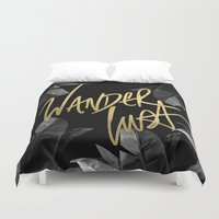 wanderlust Duvet Covers featuring Wanderlust by Tamsin Lucie