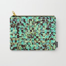 WILD THING GEO PATTERN BLUE GREEN Carry-All Pouch