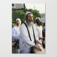 jewish Canvas Prints featuring JEWISH STREET MUSICIAN by DidiBNK