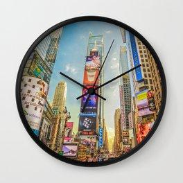 Times Square Hustle Wall Clock