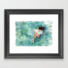 What If The Storm Ends Framed Art Print